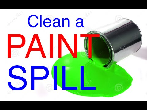 Get paint off a driveway - Clean up a Paint Spill