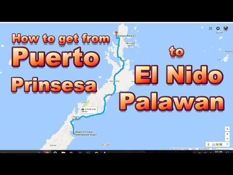 Transportation to El Nido Palawan from Puerto Prinsesa Airport