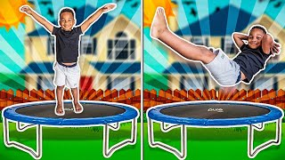 5 YEAR OLD DOES CRAZY BACKFLIPS & TRICKS ON THE TRAMPOLINE | THE CLUBHOUSE KIDS