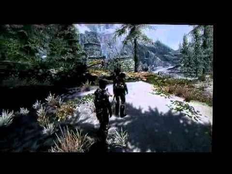 w/ Aela the Huntress (uphill)