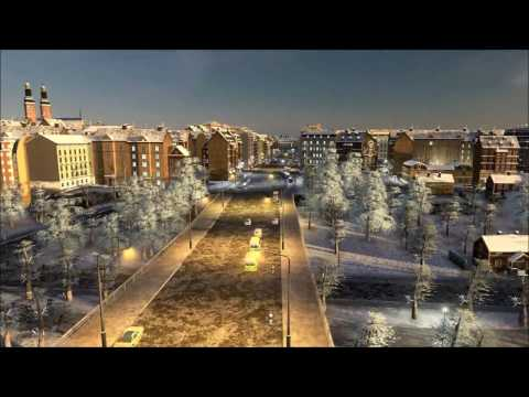 Winter in Stockholm - Cities Skylines