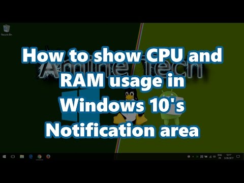 How to show CPU and RAM usage in Windows 7/8/8.1/10's notification area