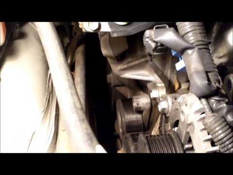 How to replace drive belt tensioner Toyota Camry √