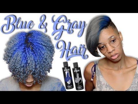 Gray Hair w/ Dark Blue Roots - Arctic Fox Hair Dye