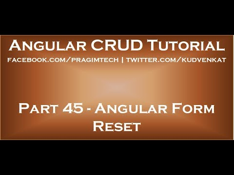 Angular form reset