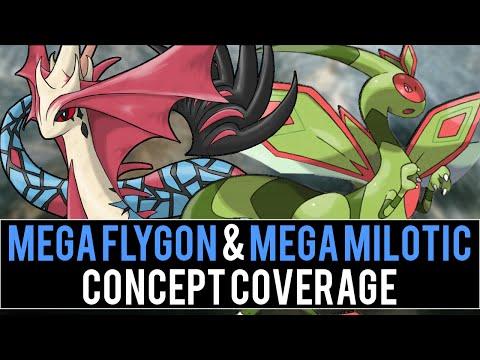 Mega Flygon & Mega Milotic Concept Coverage (Pokémon Omega Ruby and Alpha Sapphire)
