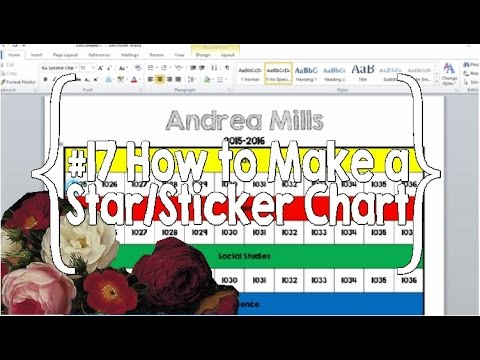How to Make a Star/Sticker Chart- #17