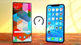 Samsung Galaxy Note 10 Plus vs iPhone XS MAX - Speed Test! (WOW)