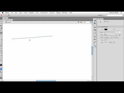Adobe Flash CS6 Tutorial | Drawing with the Pen Tool