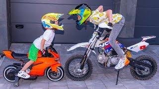 МАМА нас НАКАЗАЛА!!! Tisha and Dania ride on children