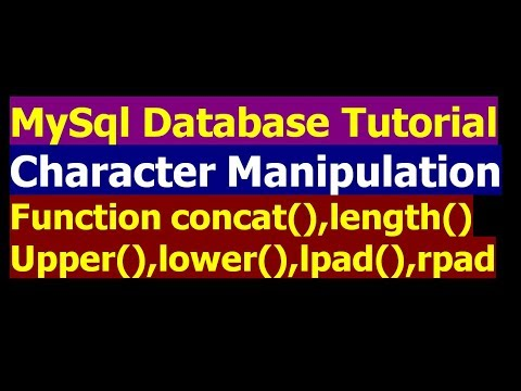 How To Use Character Manipulation function in SQL - MySql Database Bangla Tutorial Part 16