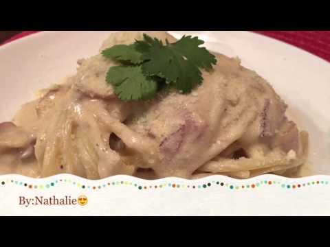 Pasta carbonara(pinoy style)