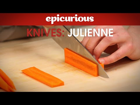 How to Julienne Carrots for Salads - Epicurious Essentials: How To Kitchen Tips - Knives