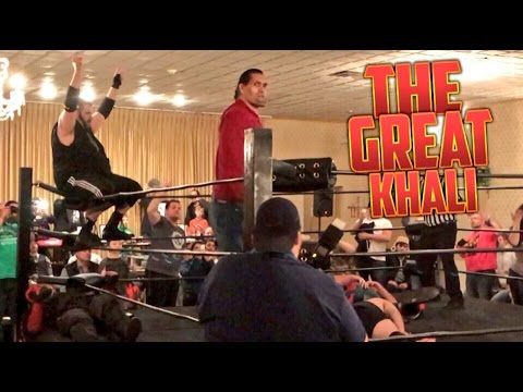 GREAT KHALI HELPS GRIM! AWKWARD INTERVIEW! CRAZY SWF TAG TEAM CHAMPIONSHIP INDY WRESTLING MATCH!