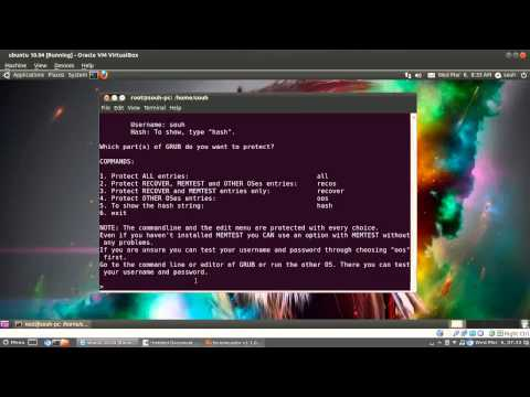 How to Protect GRUB with Password in Ubuntu
