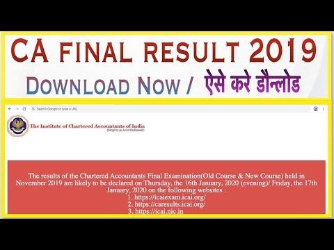 CA final result nov 2019