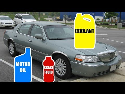 Motor Oil & Fluid Types for LINCOLN TOWN CAR 1998-2011