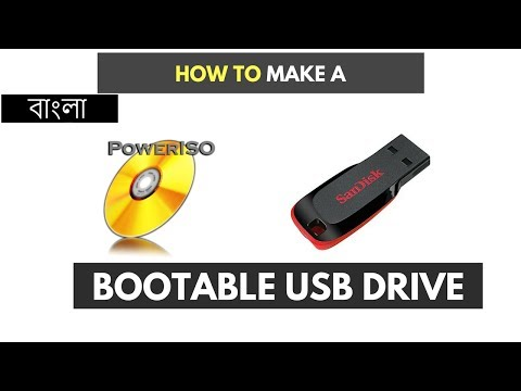 How To Make a Bootable USB Drive By Power ISO (Bangla Tutorial)