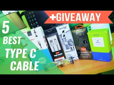 BEST TYPE C CABLE AMAZON INDIA //GIVEAWAY