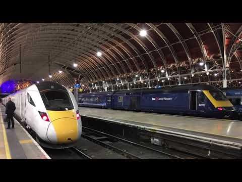 IEP 800009 Departing London Paddington station