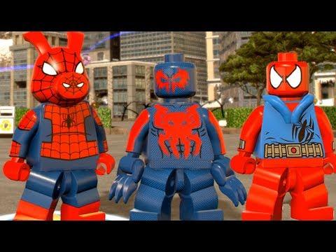 LEGO Marvel Super Heroes 2 - All Spider-Man Characters Unlocked! (Free Roam Showcase)