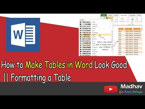 How to Make Tables in Word Look Good || Formatting a Table