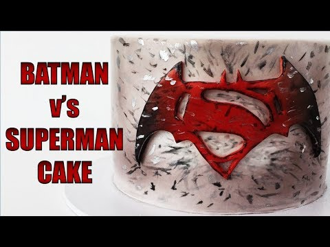 The BEST Batman v's Superman CAKE!
