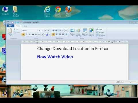 Firefox Change the Download Location (Simple)