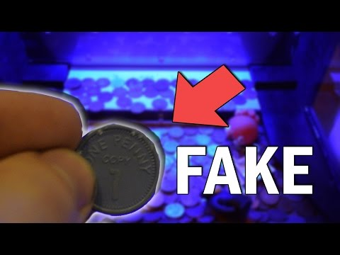CAN YOU HACK A COIN PUSHER WITH FAKE COINS?
