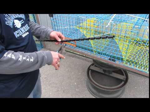 DIY Cutting Plastic Edge Protectors to Fit Lobster Trap