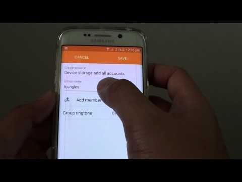Samsung Galaxy S6 Edge: How to Create or Remove Contact Group