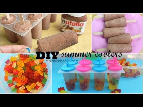 DIY Summer Coolers - Popsicles using Nutella & Gummy Bears! ♥