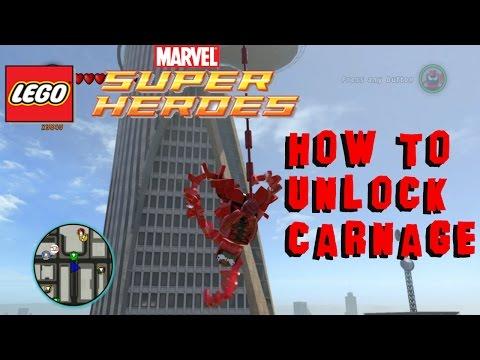 How to Unlock Carnage - Lego Marvel Super Heroes Carnage Token