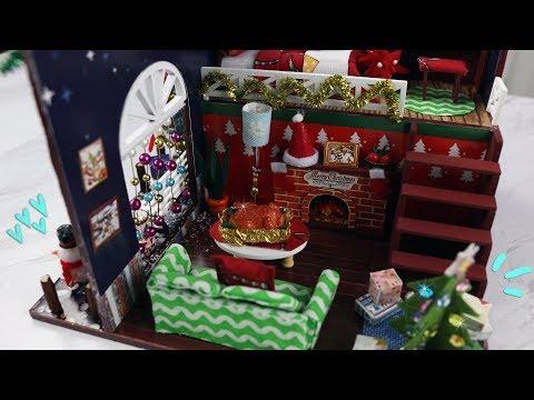 DIY Miniature Dollhouse Kit: Christmas Tree House