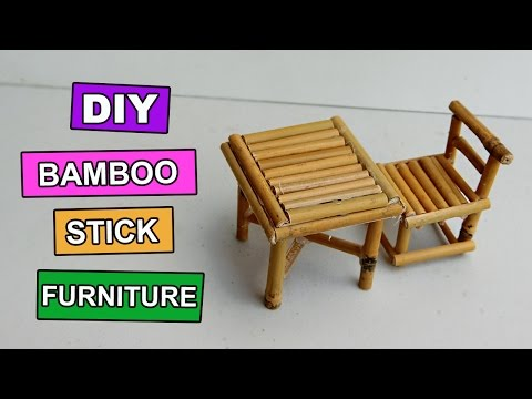 DIY bamboo stick Table and Chair - Mini Furniture #5