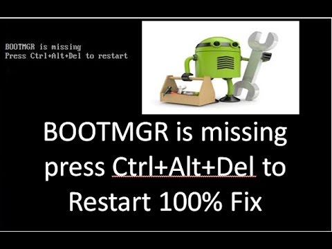 bootmgr is missing press ctrl+alt+del to restart in hindi  100% FIX