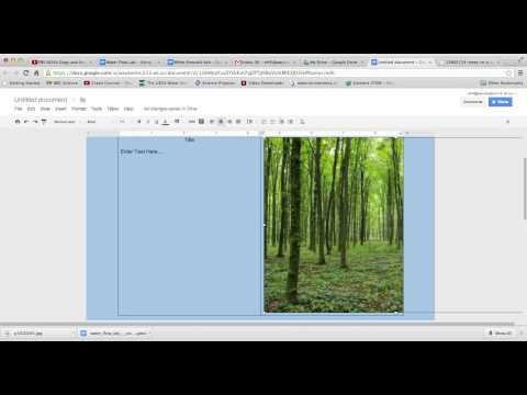 Using Google Docs to Make a Poster Presentation