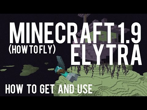 How To Get and Use Elytra in Minecraft 1.9 - How to fly Vanilla Minecraft - 15w41b
