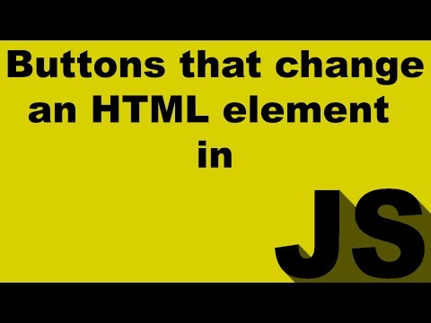 How to create buttons in Javascript that change the color of an HTML element