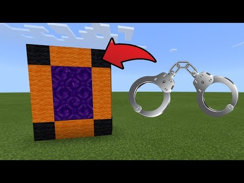 How To Make a Portal to the Handcuffs Dimension in MCPE (Minecraft PE)