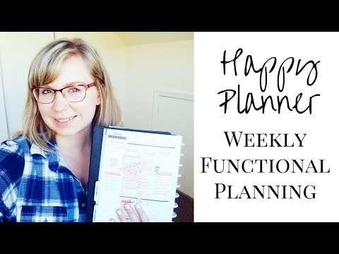 Plan With Me Weekly Spread | Functional Planning | Happy Planner