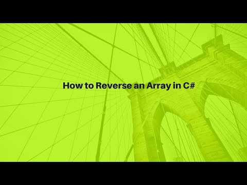 How to Reverse an Array in C#