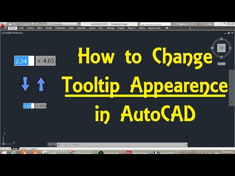 How to change Tooltip Appearance in AutoCAD by Engineer AutoCAD Tutorials