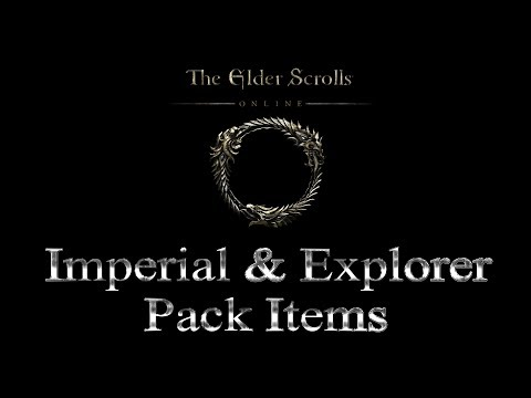 The Elder Scrolls Online - Imperial Edition and Explorer Pack items ingame