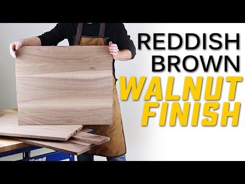 Finishing Walnut: 4 Steps to Create A Beautiful Reddish Brown Wood Finish