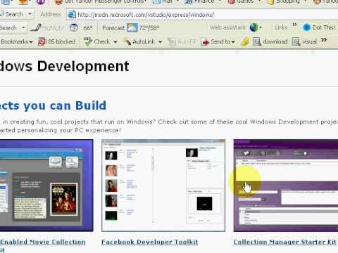 Visual Studio 2005 Express Tutorial - 1 of 6 - Installing