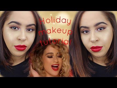 fifth harmony, pitbull - por favor holiday makeup tutorial