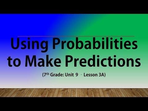 Using Probabilities to Make Predictions (7th Grade Unit 9 Lesson 3A)