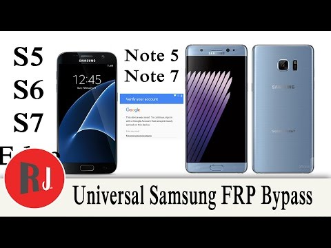 Universal Samsung Galaxy s6 s7 note 5 note 7 FRP bypass for