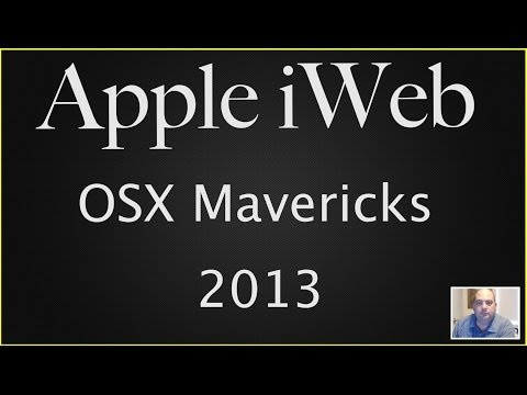 Apple iWeb with Mac OSX Mavericks (2013)